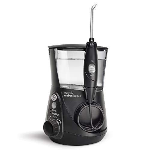 Waterpik WP-662 Water Flosser Electric Dental Countertop Professional Oral Irrigator For Teeth, Aquarius, Black