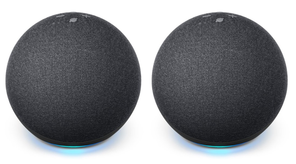 Package - Amazon - Echo Dot (4th Gen) Smart speaker with Alexa - Charcoal (2 pack)