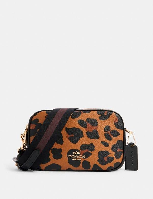 jes crossbody 20 with leopard print