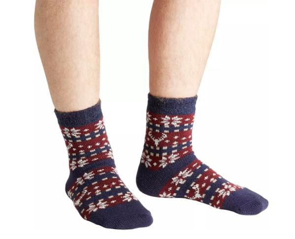Field & Stream Men's Cozy Cabin Deer Fair Isle Socks [Sock size : One Size]