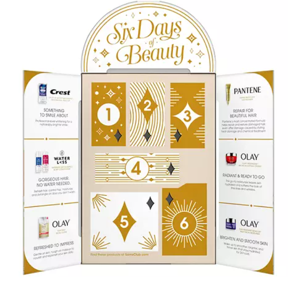 Six Days of Beauty Advent Calendar from Olay, Pantene and Crest