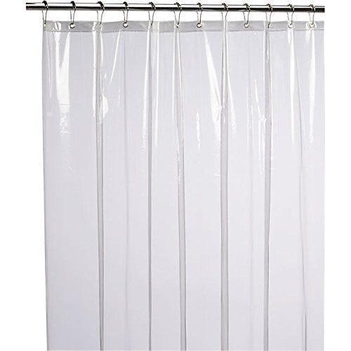"LiBa PEVA 8G Bathroom Shower Curtain Liner, 72"" W x 72"" H"