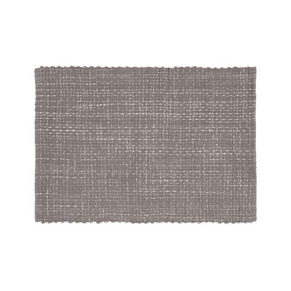 Della Grey Cotton Flat Weave Rug 2'x3'