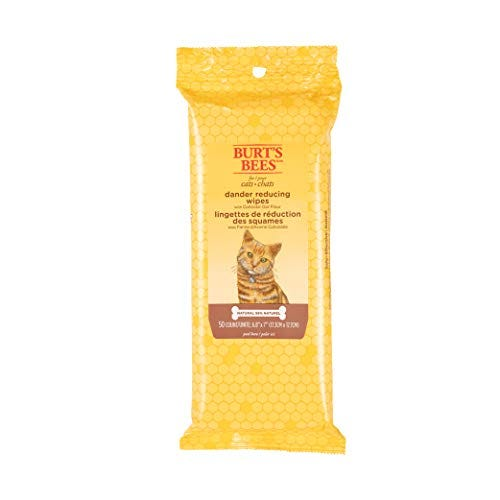 Burt's Bees Kitten and Cat Wipes For Grooming, Natural Dander Reducing Wipes