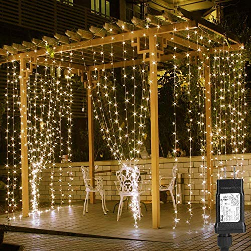 LE 306 LED Curtain Lights 9.8 x 9.8 ft Fairy String Lights