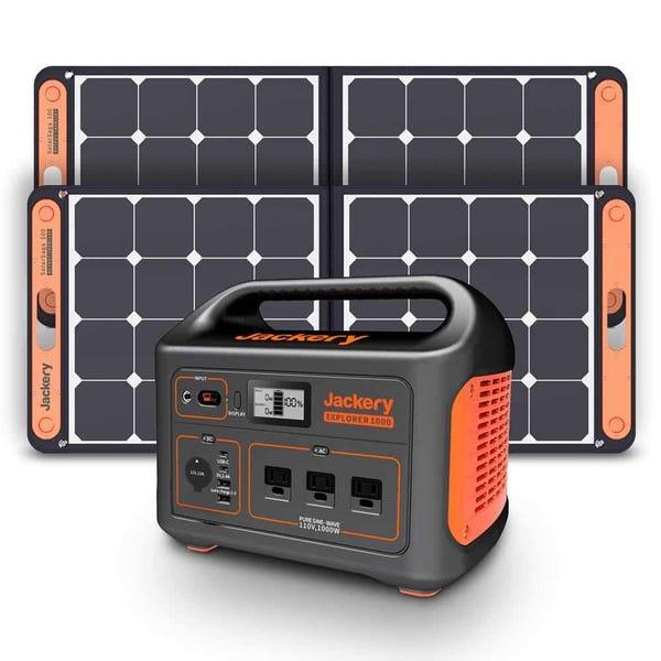 Jackery Solar Generator 1000 (Jackery 1000 + 2 x SolarSaga 100W)