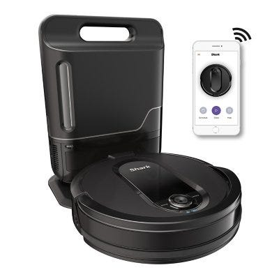 Shark IQ Robot Self-Empty Vacuum UR1005AE with Self-Empty Base, Wi-Fi, Home Mapping
