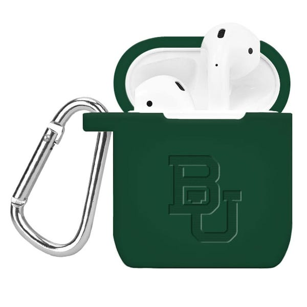 Baylor Bears Affinity Bands Debossed Silicone AirPods Case Cover - Green