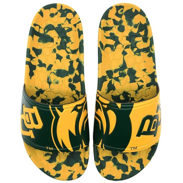 Baylor Bears Hype Slydr Slide Sandals - Green/Gold
