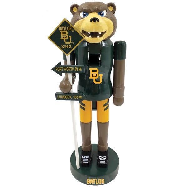 Baylor Bears 12'' Rivalry Nutcracker - Green/Gold