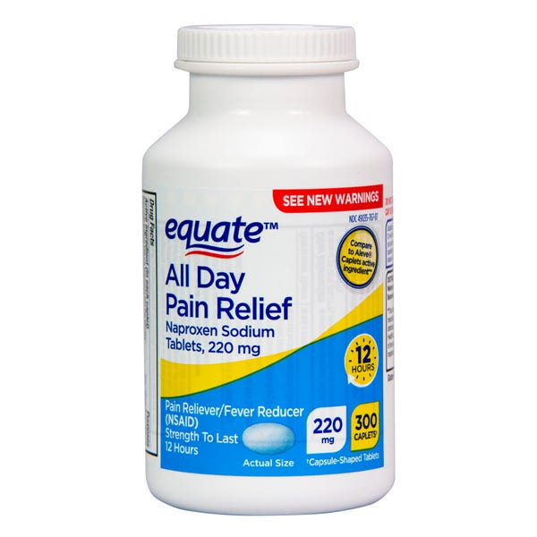 Equate All Day Pain Relief, Naproxen Sodium Tablets