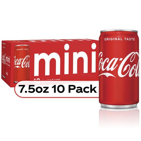 Coca-Cola Soda Soft Drink, 7.5 fl oz, 10 Pack