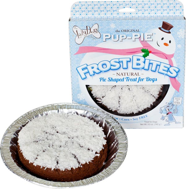 The Lazy Dog Cookie Co. Frost Bites Holiday Pup-PIE Dog Treat