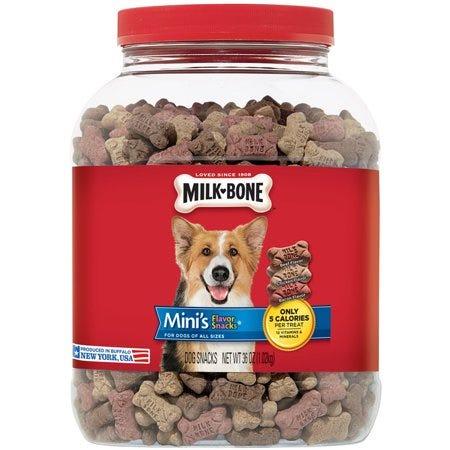 Milk-Bone Mini's Biscuits Flavor Snacks Canister 36oz