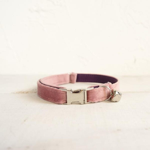 Personalized cotton cat collar with bell