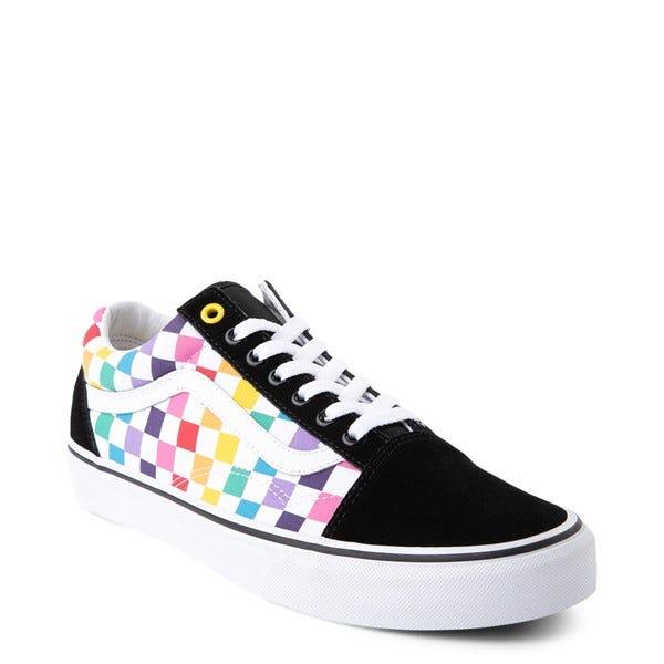 Vans Old Skool Rainbow Checkerboard Skate Shoe - Multi