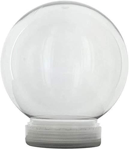 5 Inch (130mm) DIY Snow Globe Water Globe, Clear Plastic with Screw Off Cap