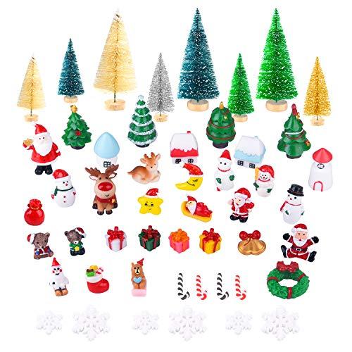 KUUQA 50 Pcs Mini Christmas Ornament Kits