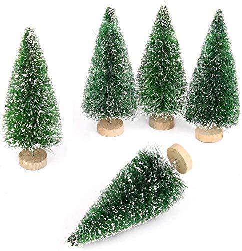 Goldenlight 10Pcs Miniature Christmas Trees Mini Pine