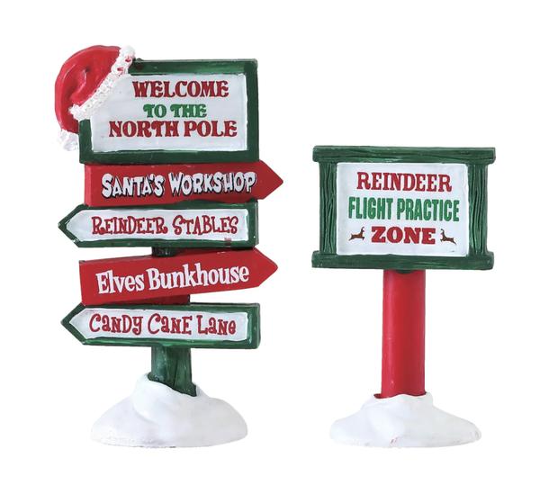 Lemax® North Pole Signs Set