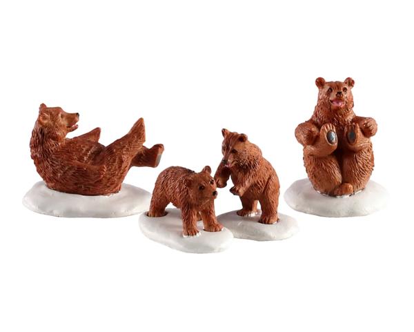 Lemax® Vail Village Bear Family Snow Day Set