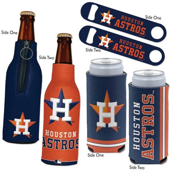 Houston Astros WinCraft Three-Piece Can Cooler & Bottle Opener Set