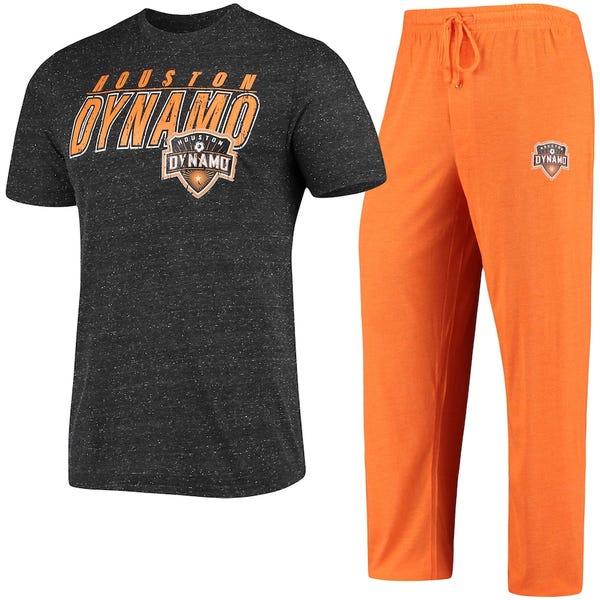 Houston Dynamo Concepts Sport T-Shirt & Pants Sleep Set - Orange/Black