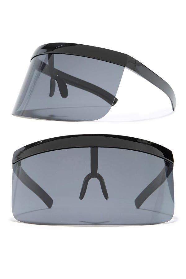 Personal Protective Eye Shield - Black/Smoke