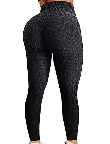 SEASUM Women's High Waist Yoga Pants Tummy Control Slimming Booty Leggings Workout Running Butt Lift Tights XL