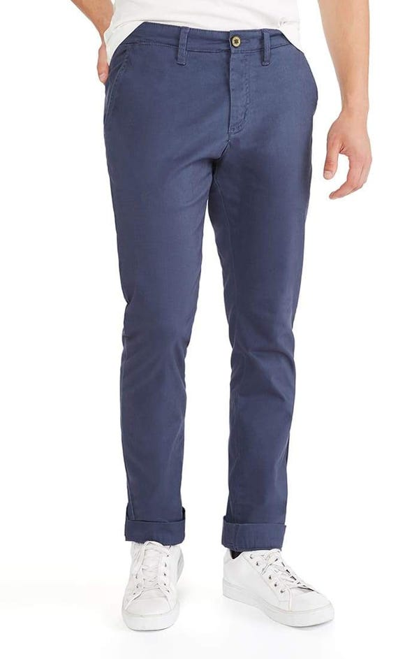 Navy Straight Fit Stretch Bowie Chino