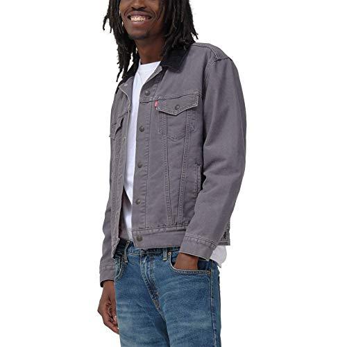 Levi's Men's Lined Trucker Jackets, magnet charcoal Canvas, Medium