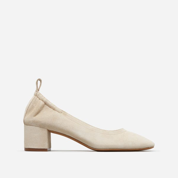 The Day Heel - Natural Suede