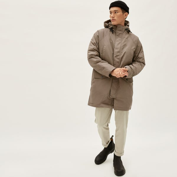 The ReNew Long Parka - Taupe