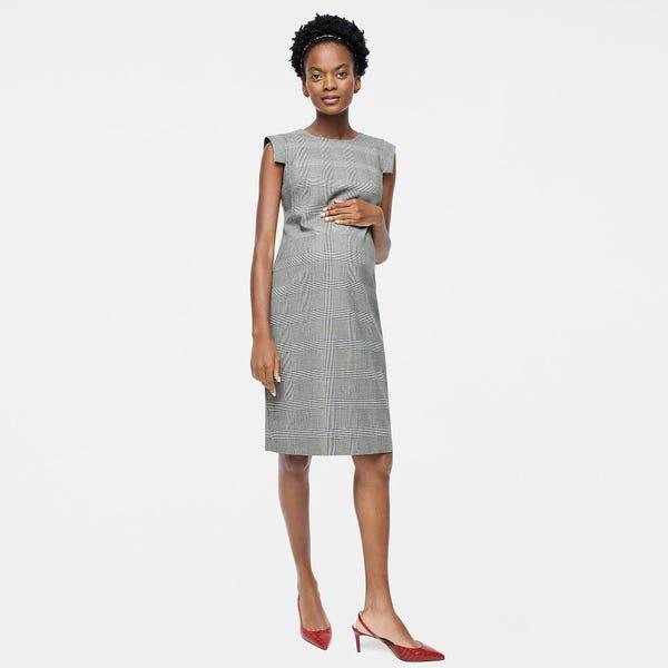 HATCH X J.Crew résumé dress in glen plaid