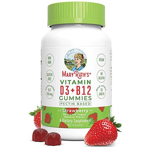 Vegan Vitamin D3+B12 Gummy (Plant-Based Gummies) by MaryRuth's