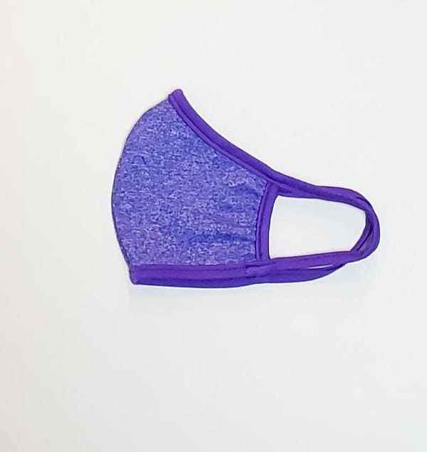 Face Mask Made Of Moisture Wicking Stretch Polyester Fabric