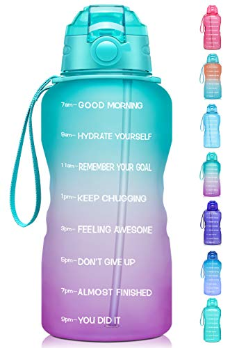 Giotto Large 1 Gallon/128oz Motivational Water Bottle