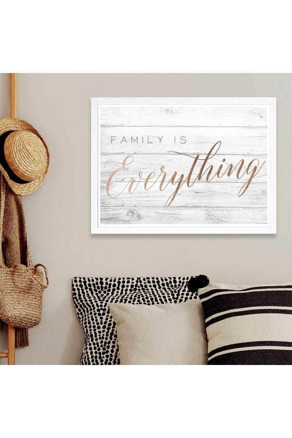 Family is Everything Bronze Framed Wall Art
