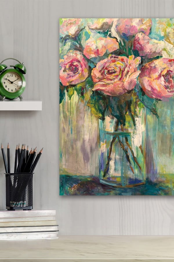 Peony Play Gallery Wrapped Canvas Wall Art