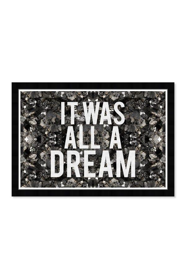 All A Dream Glitter Framed Wall Art