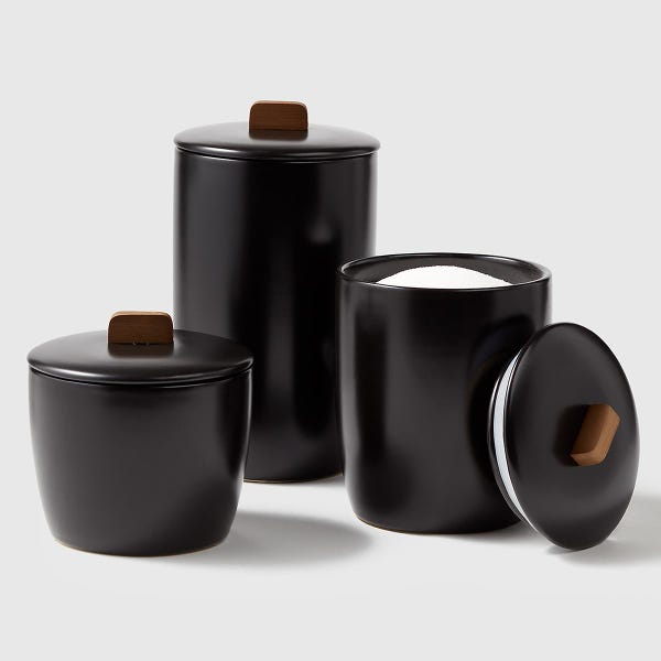 Marie Kondo Ink Black Ceramic Bulk Canisters