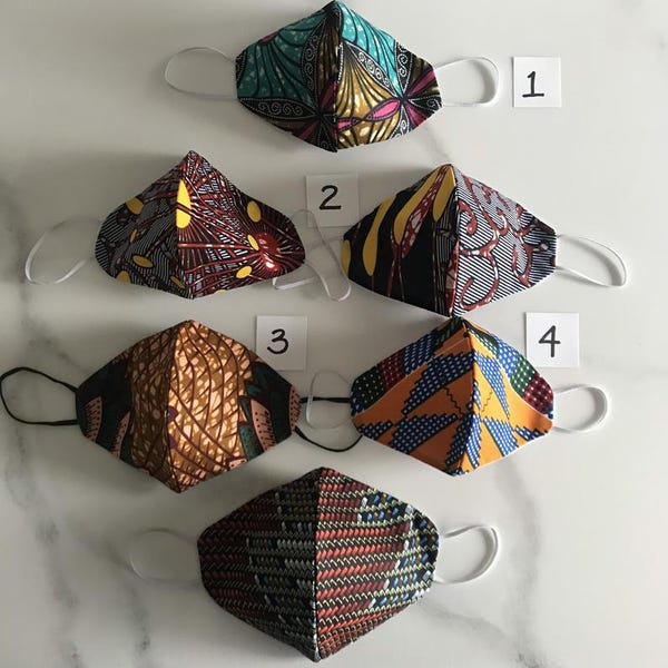 Kitenge African Print Cotton Face Masks