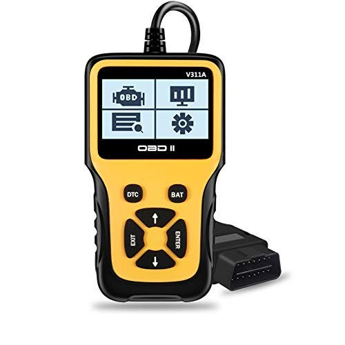 OBD2 Scanner, Enhanced Car OBD II Scanner Code Reader Handheld Universal Automotive Fault Diagnostic Tool for OBDII Protocol Cars Since 1996