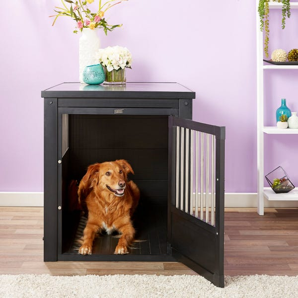Age Pet ecoFLEX Single Door Furniture Style Dog Crate & End Table