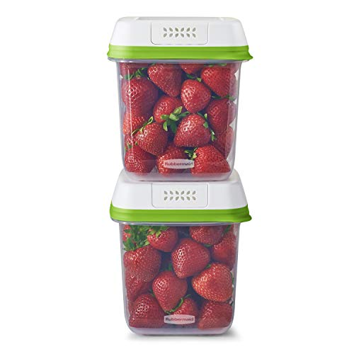 Rubbermaid FreshWorks Saver, 2-Pack, 7.2 Cup, Clear