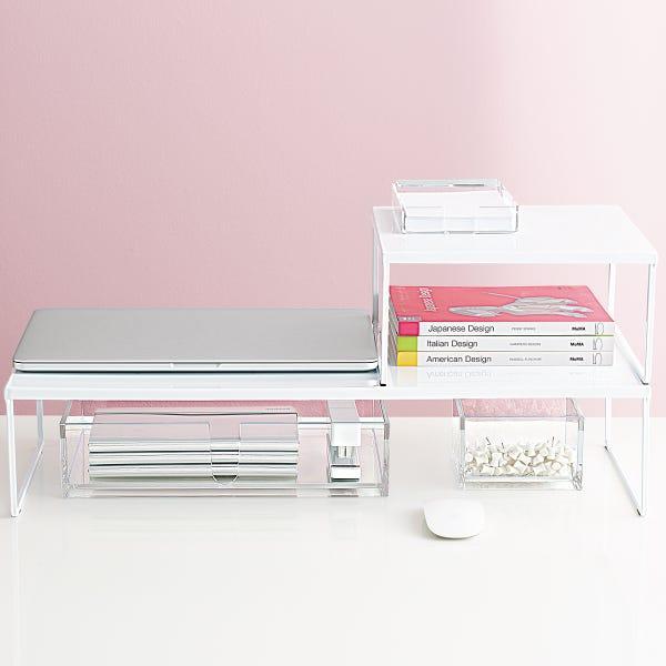 Large Franklin Desk Stand White