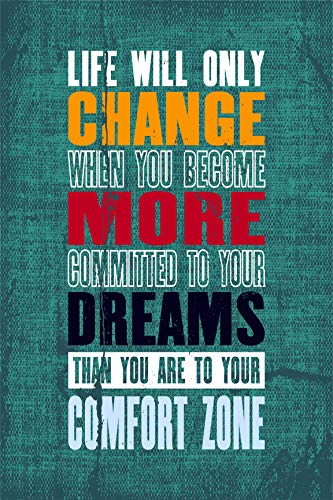 EzPosterPrints Motivational Inspirational Posters for Home Office School Classroom Kidsroom - Motivational Quotes Poster Printing - Wall Art Print - 'Change-More-Dreams' - 12X18 inches