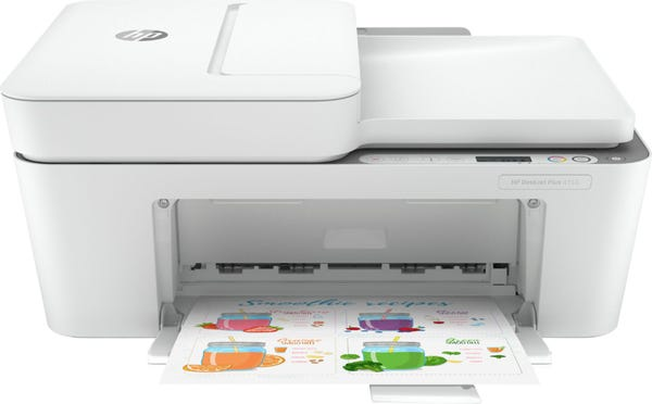 HP - DeskJet Plus 4155 Wireless All-In-One Instant Ink-Ready Inkjet Printer - White