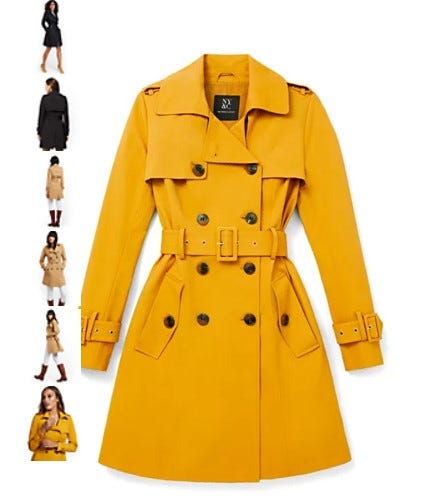 Belted Trenchcoat - 7th Avenue