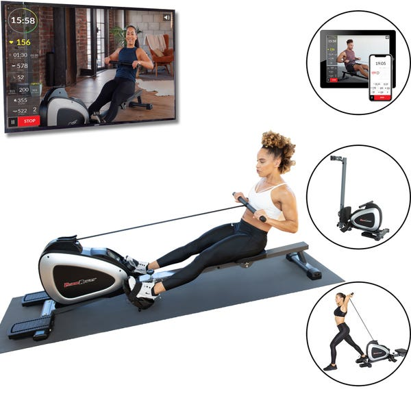 FITNESS REALITY 1000 PLUS Bluetooth Magnetic Rowing Machine Rower